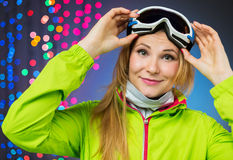 Woman in ski clothing Royalty Free Stock Images