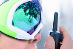 Woman in ski goggles Royalty Free Stock Photography