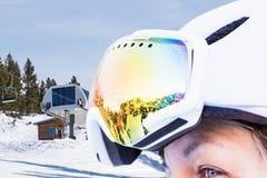 Woman in ski goggles Royalty Free Stock Photos