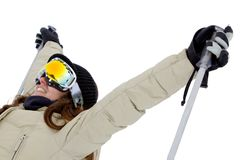 Woman with ski googles Stock Image