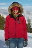 Woman in ski googles Stock Photo
