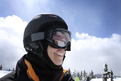Woman in ski outfit Royalty Free Stock Photos