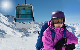 Woman in ski outfit Royalty Free Stock Photography