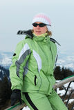 Woman on ski resort Royalty Free Stock Images