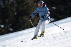 Woman at ski slope Stock Photos