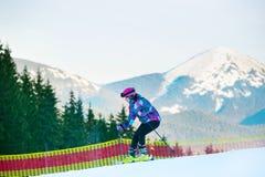 Woman at ski slope Royalty Free Stock Photo