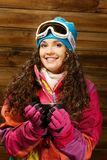 Woman in ski wear Royalty Free Stock Photos