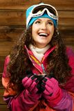 Woman in ski wear Royalty Free Stock Photography