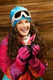 Woman in ski wear Royalty Free Stock Images