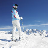 Woman skier Royalty Free Stock Image