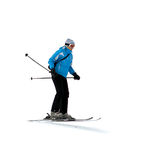 Woman skier Royalty Free Stock Photo