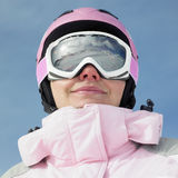 Woman skier Stock Image