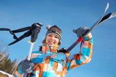 Woman - skier Royalty Free Stock Photography