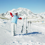 Woman skier Royalty Free Stock Photography