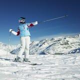 Woman skier Royalty Free Stock Photos