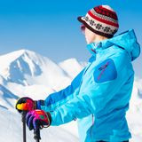 Woman skier. Royalty Free Stock Photos