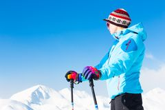 Woman skier. Stock Photography
