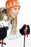 Woman skiing Stock Image