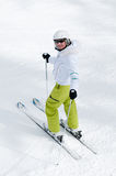 Woman skiing Royalty Free Stock Photography