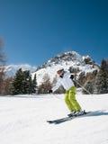 Woman skiing Royalty Free Stock Photos