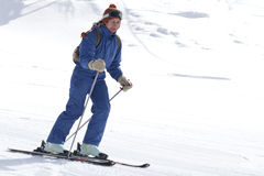 Woman skiing Stock Photos