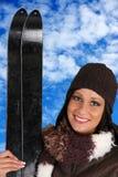 Woman Skiing Royalty Free Stock Image