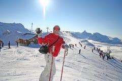 Woman skiing Stock Photos