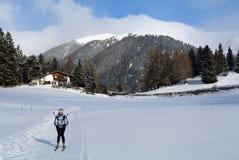 Nordic Skiing, Nauders, Tirol, Austria Stock Image