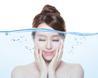 Woman skin care and moisturizer concept Royalty Free Stock Photography