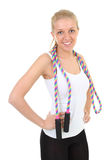 Woman with skipping rope Stock Photography