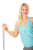Woman and skipping rope Royalty Free Stock Photo