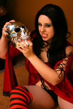 Woman With Skull Royalty Free Stock Images