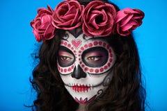 Woman skull make up royalty free stock photos