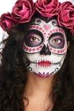 Woman skull portrait royalty free stock image