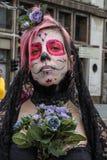Woman skull in Zombie Walk Sao Paulo Royalty Free Stock Photo