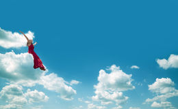 Woman and sky concept Royalty Free Stock Image