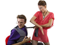 Woman Slapping Boyfriend Royalty Free Stock Photo