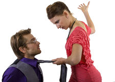 Woman Slapping Boyfriend Stock Photos