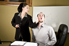 Woman slapping man Royalty Free Stock Photos