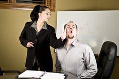 Woman slapping man Royalty Free Stock Photos