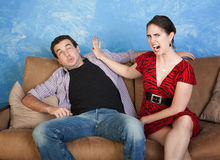 Woman Slaps Man Stock Photography