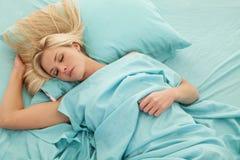 Woman sleep Stock Image