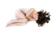 Woman in sleeping Stock Photo