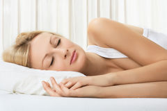 Woman sleeping. Portrait of beautiful woman sleeping Royalty Free Stock Photo