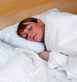 Woman sleeping Stock Image
