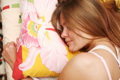 Woman sleeping Royalty Free Stock Image