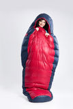 Woman In the Sleeping Bag Royalty Free Stock Image