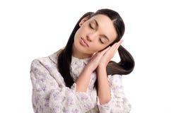 Woman sleeping. Stock Photos