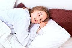 Woman sleeping Royalty Free Stock Photo