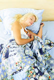 Woman sleeping in bed Royalty Free Stock Photo